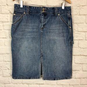 J. Crew vintage denim cargo skirt